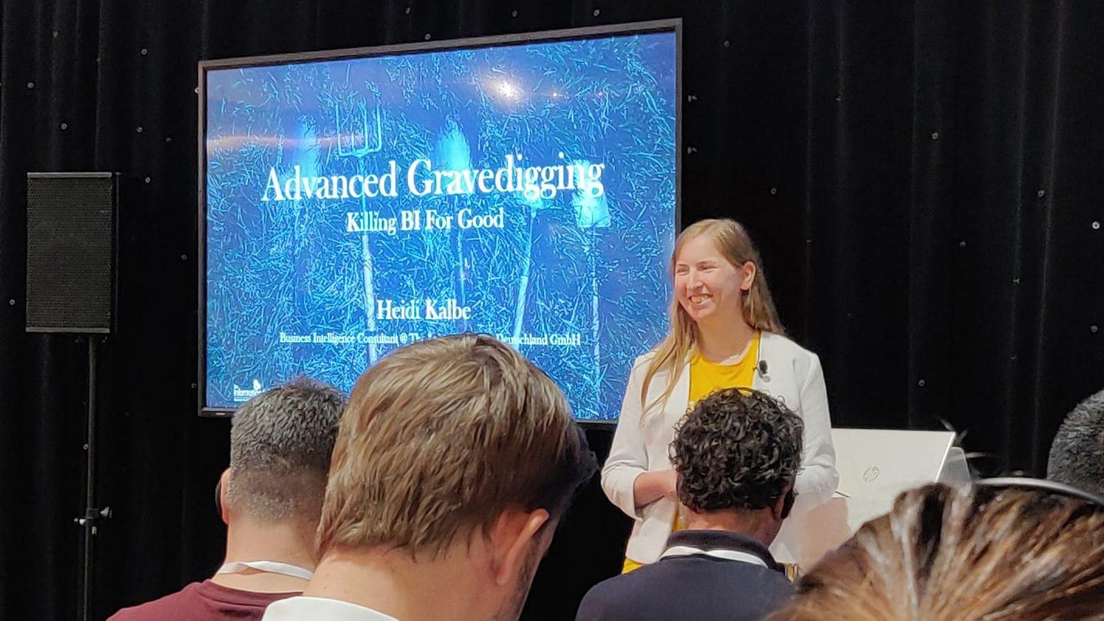 Heidi Kalbe at Tableau Conference Europe 2019 in Berlin: Advanced Gravedigging - Killing BI For Good