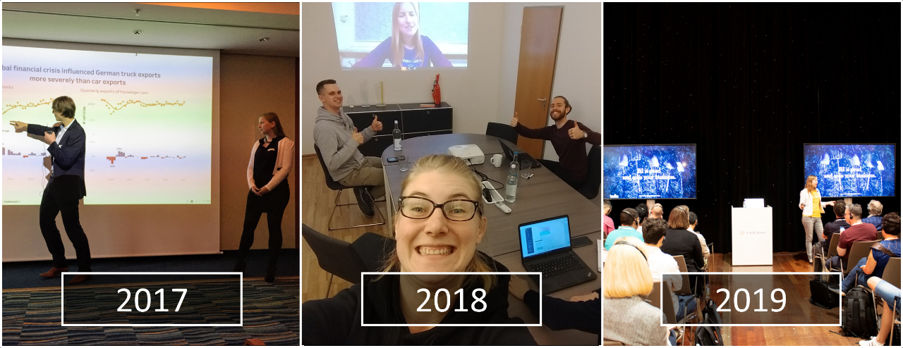 Public speaking over the years: from the Tableau Zen Master Days in Hamburg, via Tableau Fringe Festival (TFF), to Tableau Conference Europe 2019 in Berlin